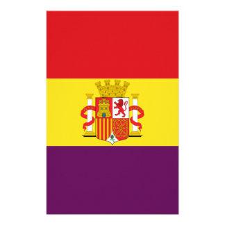Bandera de la República Española Papelería Personalizada