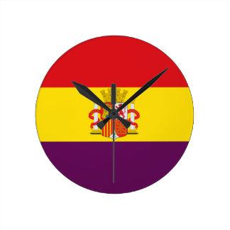 Bandera de la República Española Reloj Redondo Mediano