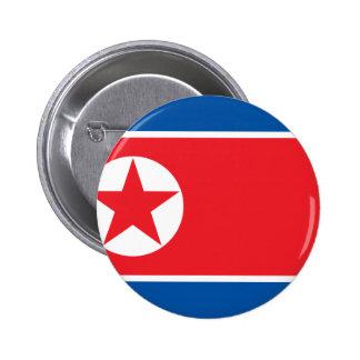 Bandera de la República Popular Democrática de Chapa Redonda De 5 Cm