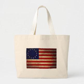 Bandera de la revolución de los E.E.U.U. Bolsa Tela Grande