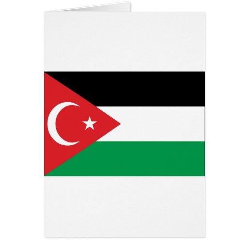 Bandera de la solidaridad de Gaza Turquía Tarjeta