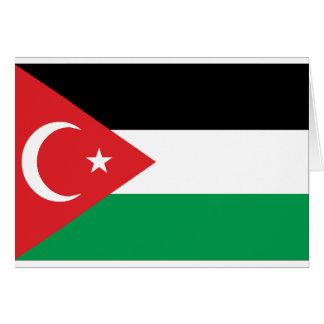 Bandera de la solidaridad de Gaza Turquía Tarjeta De Felicitación