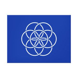 Bandera de la tierra del planeta impresión en lienzo