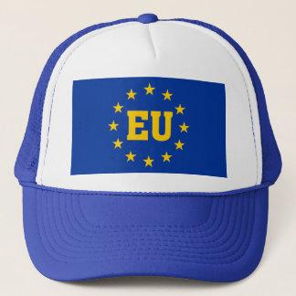 Bandera de la UE, sombrero de los partidarios de
