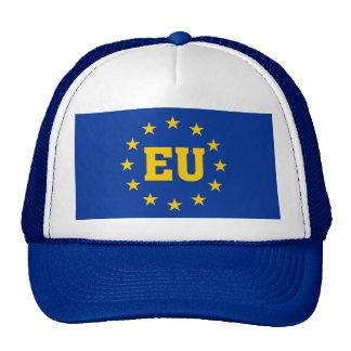 Bandera de la UE, sombrero de los partidarios de Gorro De Camionero