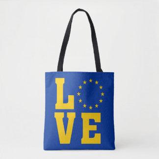 Bandera de la UE, unión europea, AMOR Bolso De Tela