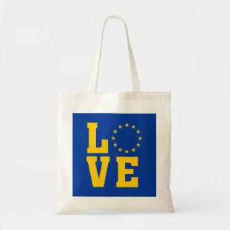 Bandera de la UE, unión europea, la bolsa de asas
