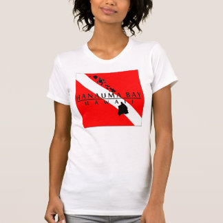 Bandera de la zambullida de Hawaii - bahía de Camisetas