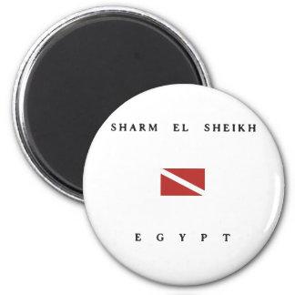 Bandera de la zambullida del equipo de imán redondo 5 cm