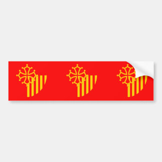 Bandera de Languedoc-Rosellón, Francia Etiqueta De Parachoque