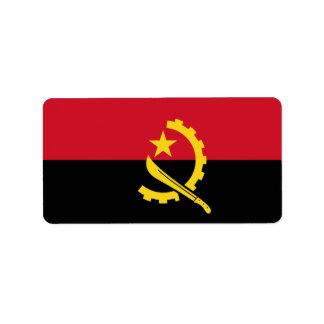 Bandera de las etiquetas de Angola Etiquetas De Dirección