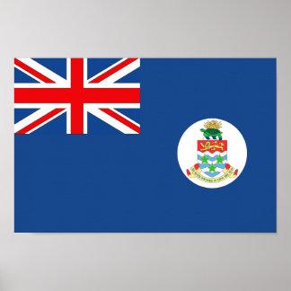 Bandera de las Islas Caimán Póster