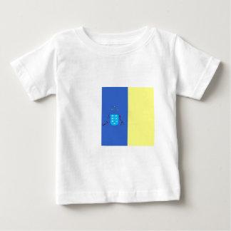 bandera de las islas Canarias Camiseta De Bebé