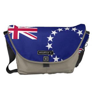 Bandera de las islas de cocinero bolsas de mensajeria
