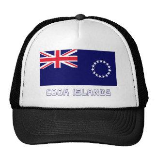 Bandera de las islas de cocinero con nombre gorro