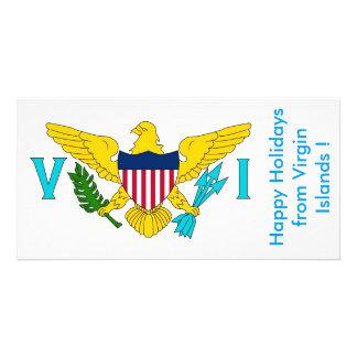 Bandera de las Islas Vírgenes, buenas fiestas de l Tarjetas Personales Con Fotos