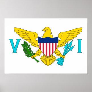 Bandera de las Islas Vírgenes de los E.E.U.U. Póster