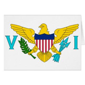 Bandera de las Islas Vírgenes de los E.E.U.U. Tarjeta De Felicitación