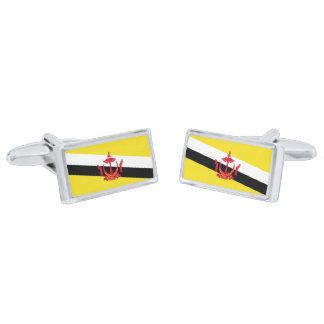 Bandera de las mancuernas de Brunei Gemelos Plateados