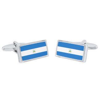 Bandera de las mancuernas de Nicaragua Gemelos Plateados