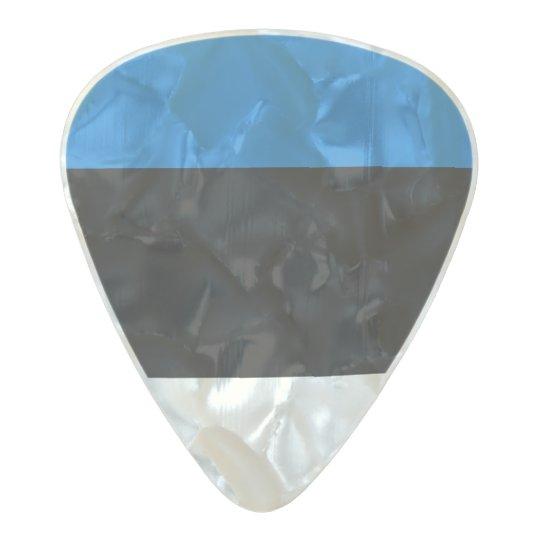 Bandera de las púas de guitarra de Estonia