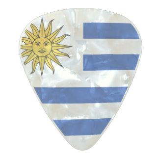 Bandera de las púas de guitarra de Uruguay