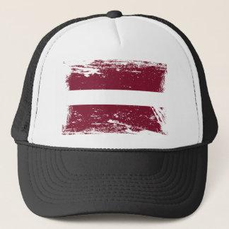 Bandera de Letonia del Grunge Gorra De Camionero