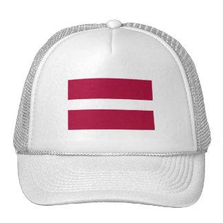 Bandera de Letonia Gorras