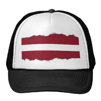 Bandera de Letonia Gorros Bordados