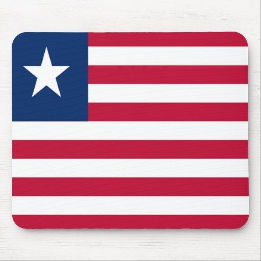 Bandera de Liberia Tapetes De Ratón