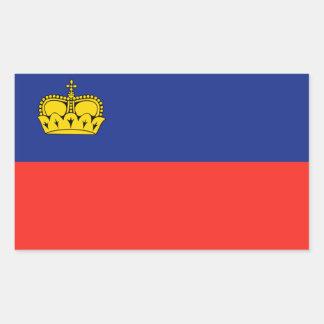 Bandera de Liechtenstein Pegatina Rectangular