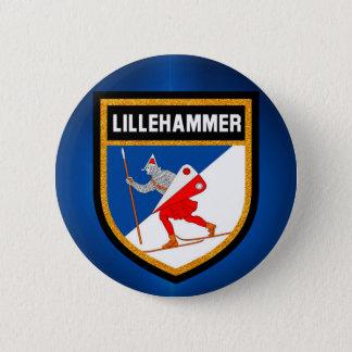 Bandera de Lillehammer Chapa Redonda De 5 Cm