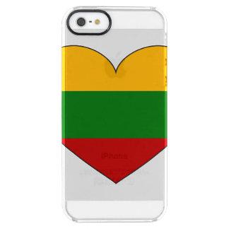 Bandera de Lituania simple Funda Transparente Para iPhone SE/5/5s