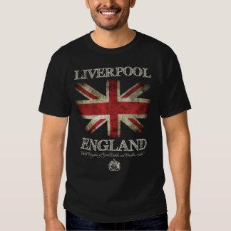 Bandera de Liverpool Inglaterra Reino Unido Camiseta