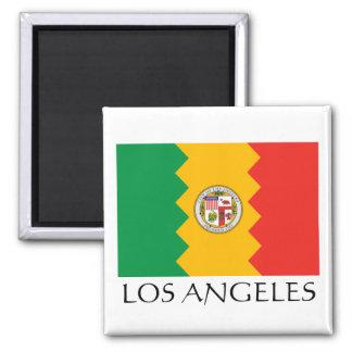 Bandera de Los Ángeles Imán Para Frigorífico