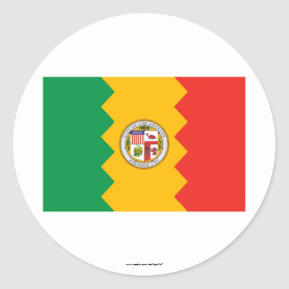 Bandera de Los Ángeles Pegatina Redonda