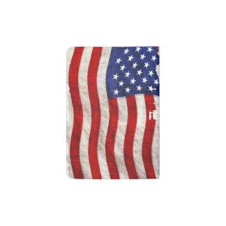 Bandera de los E.E.U.U., barras y estrellas Portapasaportes