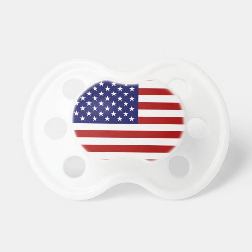 Bandera de los E.E.U.U. Chupetes Para Bebes