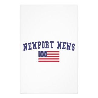 Bandera de los E.E.U.U. de las noticias de Newport Papelería De Diseño