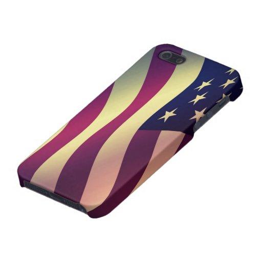 Bandera de los E.E.U.U. del caso de IPhone 5 iPhone 5 Funda