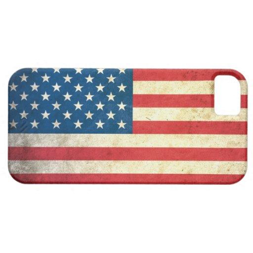 Bandera de los E.E.U.U. del Grunge iPhone 5 Case-Mate Protectores