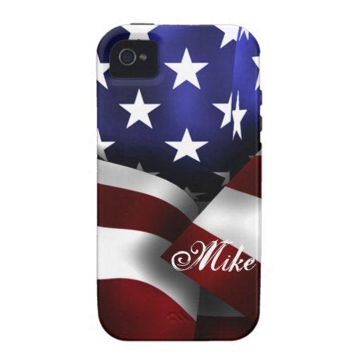 Bandera de los E.E.U.U. Vibe iPhone 4 Carcasas