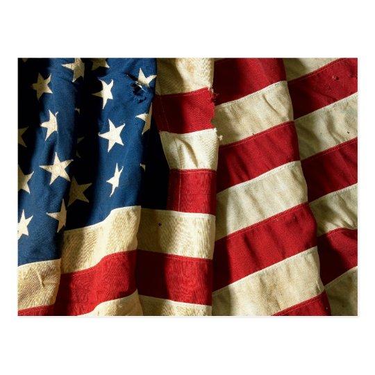 Bandera de los Estados Unidos de América - postal