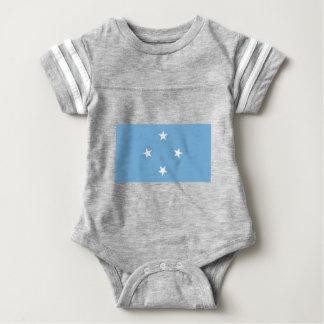 Bandera de los Federated States of Micronesia Body Para Bebé