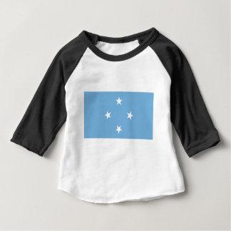 Bandera de los Federated States of Micronesia Camiseta De Bebé
