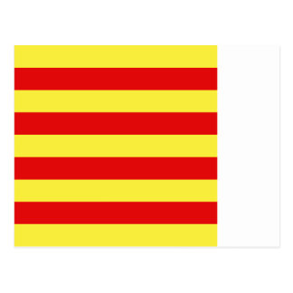 Bandera de los Pirineos-Orientales, Francia Tarjeta Postal