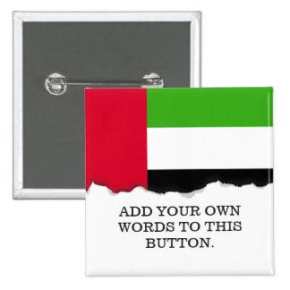 Bandera de los UAE United Arab Emirates Chapa Cuadrada
