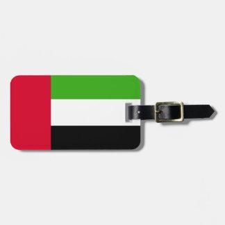 Bandera de los UAE United Arab Emirates Etiquetas Para Maletas