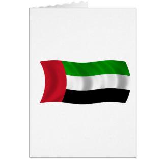 Bandera de los United Arab Emirates Tarjeta De Felicitación