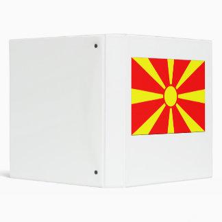 Bandera de Macedonia Carpeta 2,5 Cm